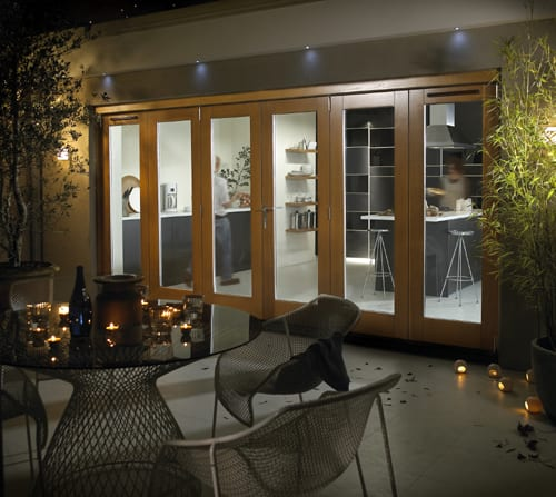 Jeldwen Darwin Golden Oak Stain Patio doors