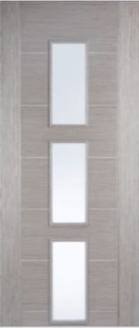 LPD Hampshire Light Grey 3 Light Glazed Door
