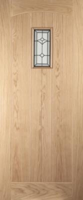 Jeldwen Croft Glazed oak exterior door
