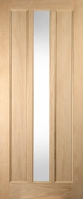 Jeldwen Lexington Glazed oak entrance doors