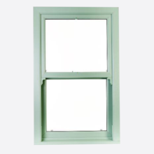 Coloured Upvc Sliding Sash Windows Smooth Finish
