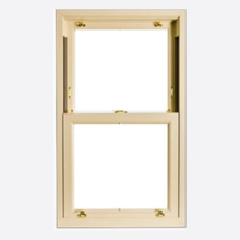 Coloured Upvc Sliding Sash with Woodgrain Finish