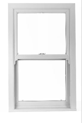 Standard Smooth White Upvc Sliding Sash window