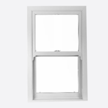 White Upvc Sliding Sash Windows Smooth Finish