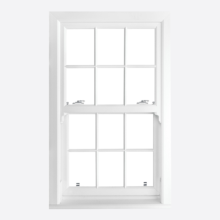 White Upvc Sliding Sash Windows Smooth Georgian Bar