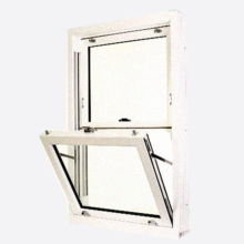 White Upvc Sliding Sash Windows Woodgrain Finish