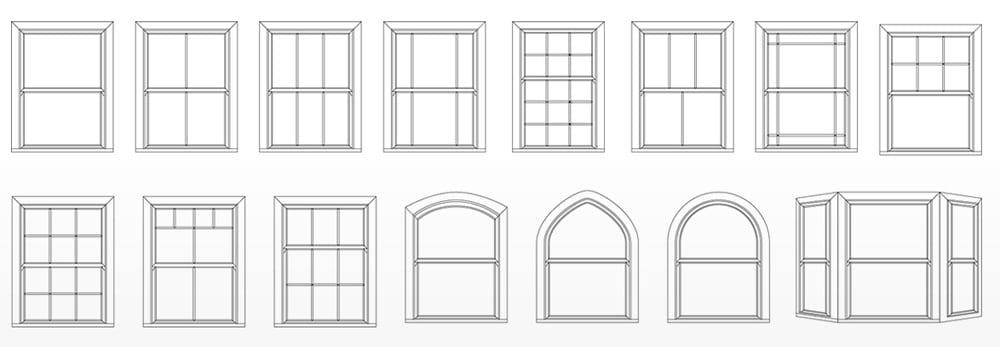 Style of upvc sliding sash windows
