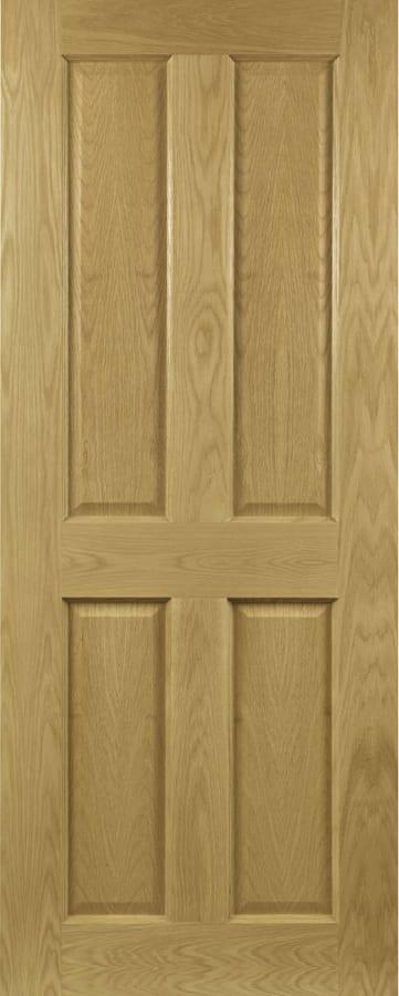Deanta Bury Oak 4 panel door