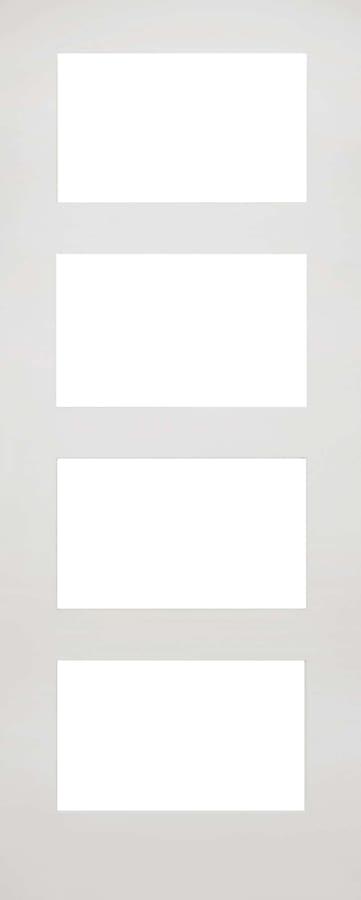Deanta Coventry white primed clear glazed door