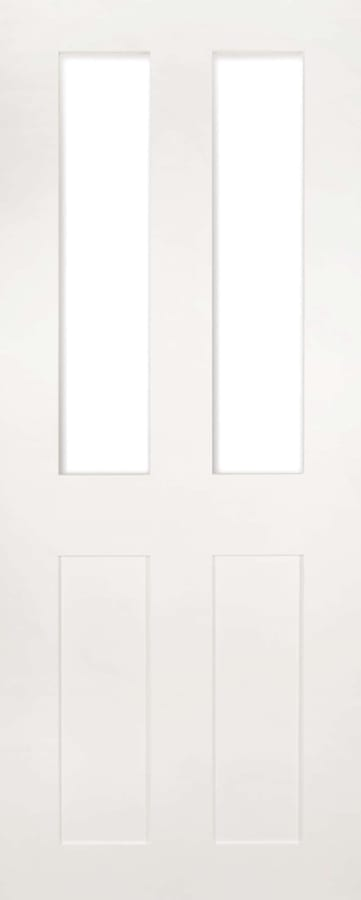 Deanta Eton white primed clear glazed door