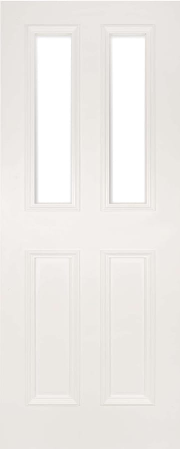 Deanta Rochester white primed clear glazed door