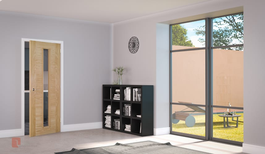 Deanta Seville Glazed Oak Door Doors Windows Stairs