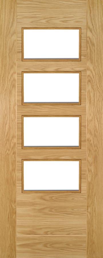 Deanta Seville 4l Clear Glazed Oak Door Doors Windows Stairs
