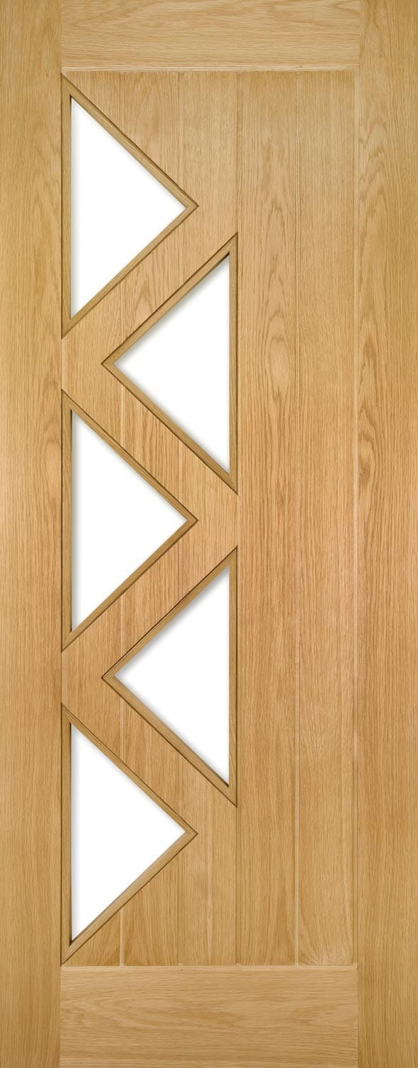 Deanta Ely Oak 5 Light Clear glazed Door Prefinished