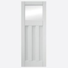 Deco Primed 3 Panel Clear Glazed Door