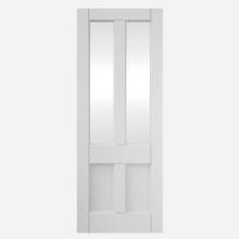 Deco Primed 4 Panel Glazed Door