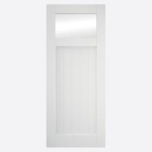 Primed Cottage Clear Glazed Sliding Barn Door