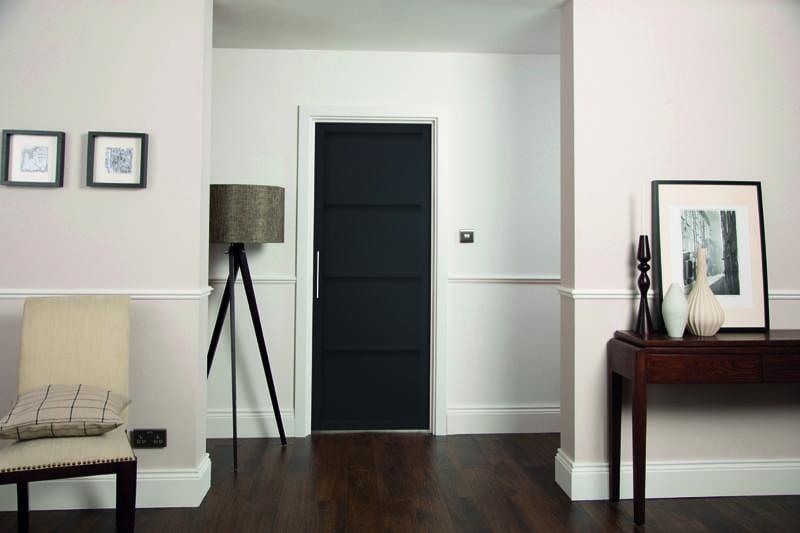Curated Black 4 Panel Interior Door Doors Windows Stairs
