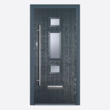 Charcoal/White Jacobean Composite Door