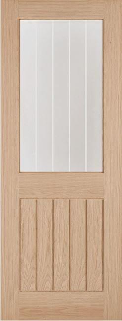 LPD Belize Oak Glazed door