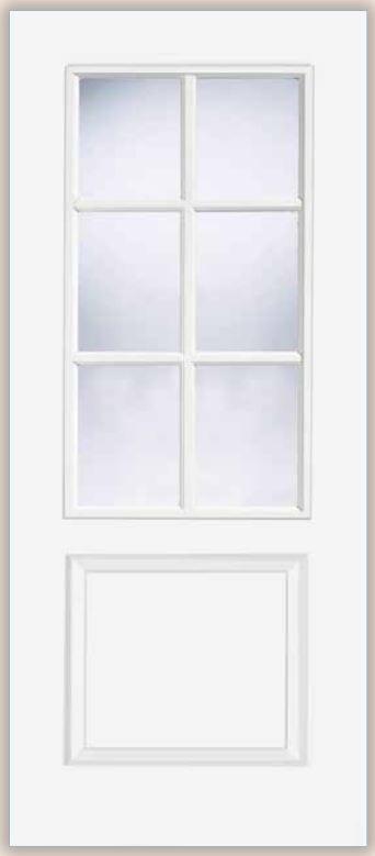 LPD Bruges Glazed prefinished white door
