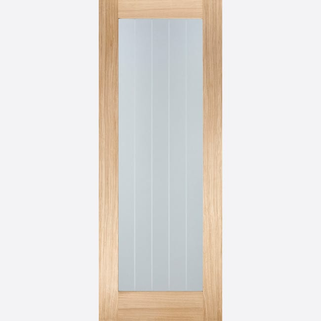 Oak Mexicano Pattern 10 Glazed Pre-finished Door