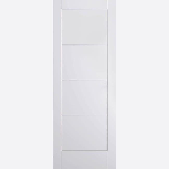 White Moulded Ladder Door