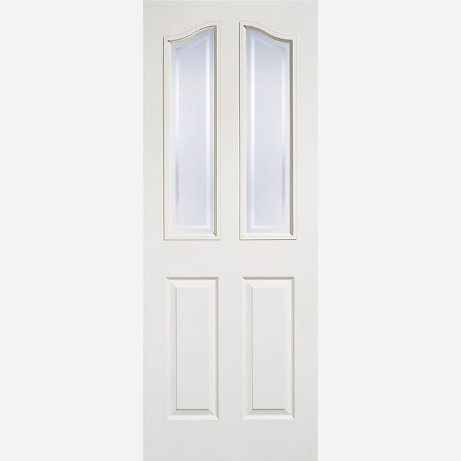 White Moulded Mayfair 2L Glazed Door