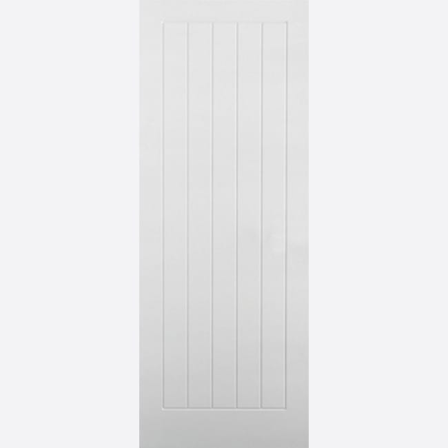 White-Moulded-Textured-Vertical-5P door