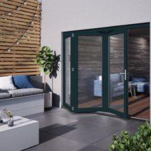 Jeld-wen Bedgebury Grey Folding Patio Doorset