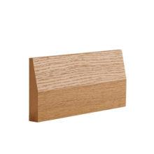 Half splayed oak architrave