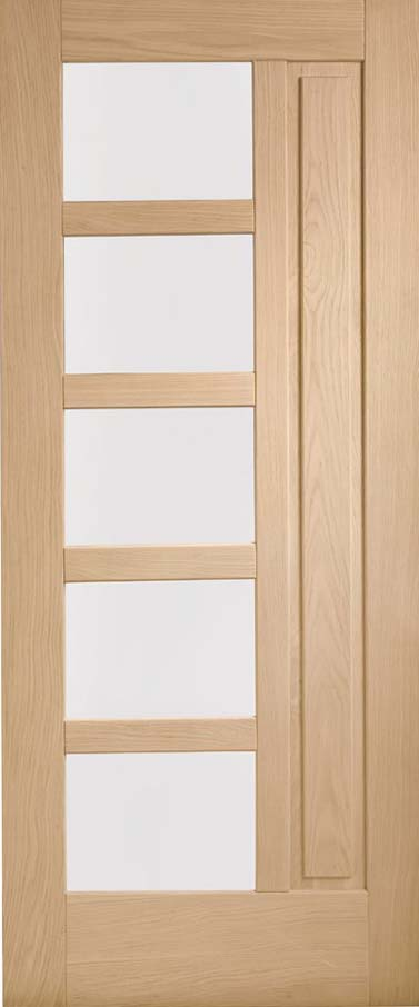 Lucca Double Glazed external Oak Door obscure glass