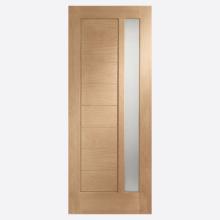 Modena Double Glazed External Oak Door with Obscure Glass