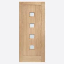 Siena Double Glazed External Oak Door with Obscure Glass