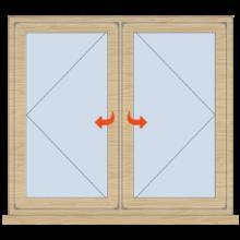 Standard Timber Casement Window 1195mm Wide Open/Open