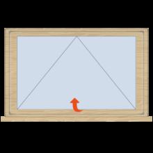 Standard Timber Casement Top Hung Window 625mm(w)