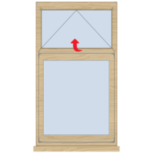 Standard Timber Casement Window with Vent 625mm(w)