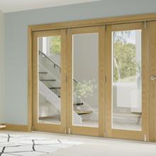 Walden Oak Folding Glazed Doors