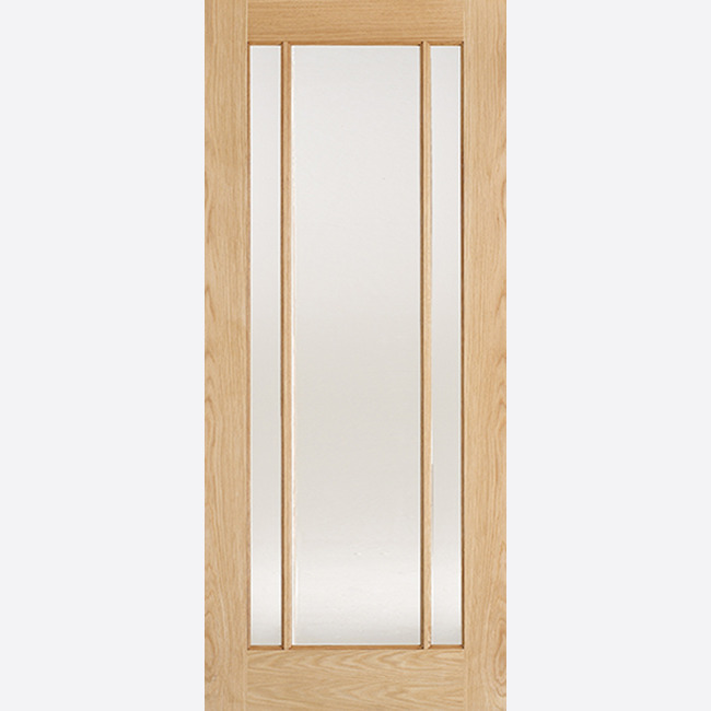 Oak Lincoln Glazed 3L Frosted Un-finished Door