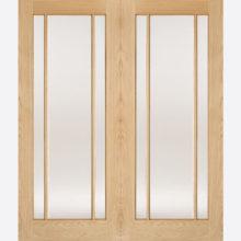 Oak Lincoln Glazed 3L Door Pairs