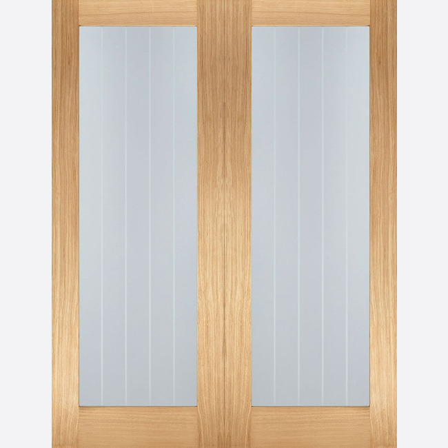 Oak Mexicano Glazed Door Pair