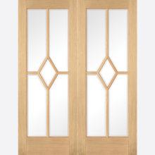 Oak Reims Glazed Door Pair