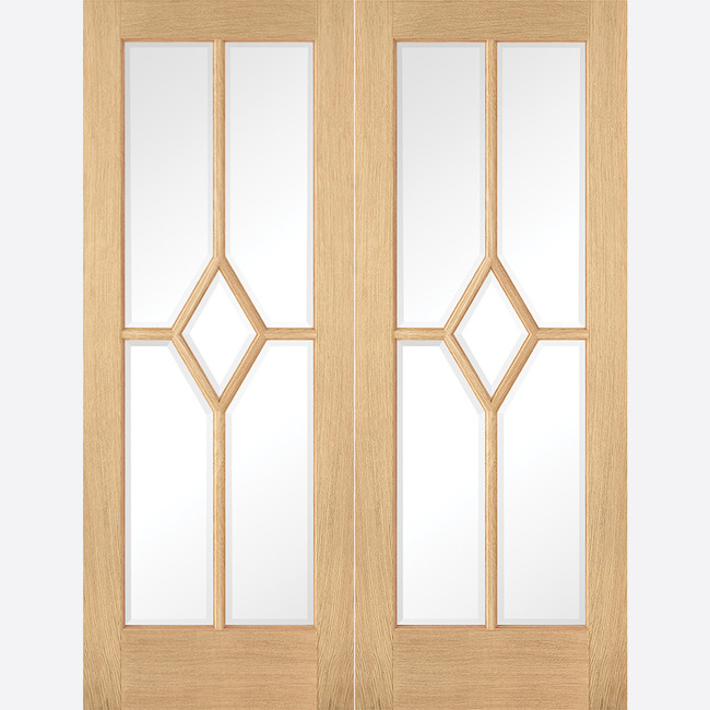 Oak Reims Glazed Door Pair