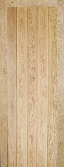 Oak Solid Oak Button Bead Framed & Ledged Door