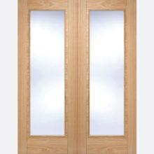 LPD Oak Vancouver Glazed Door Pair