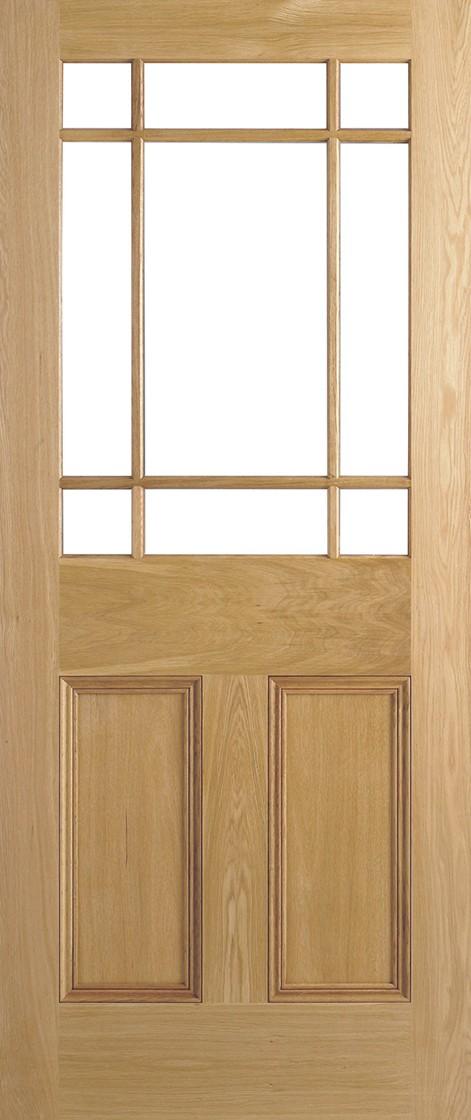 Oak Downham Unglazed 9L Un-finished Door
