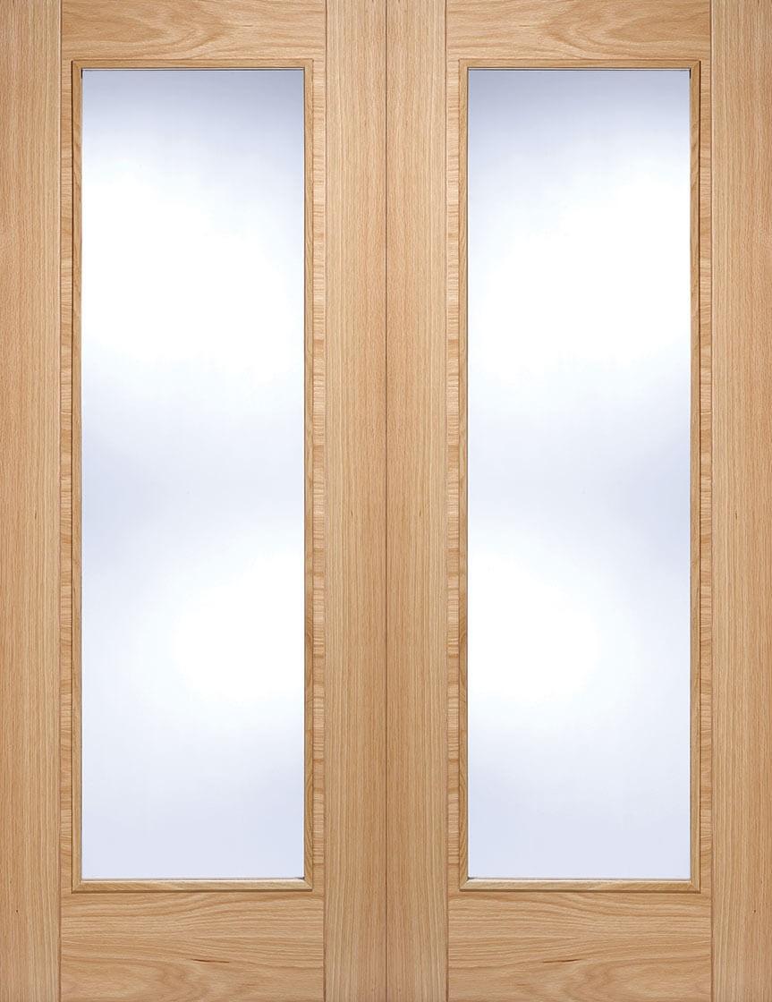 Oak Vancouver Glazed Door Pair