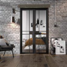 Room Divider Black Greenwich W4 Doors