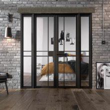 Room Divider Black Greenwich W6 Doors