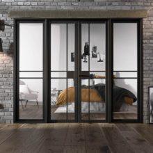 Room Divider Black Greenwich W8 Doors